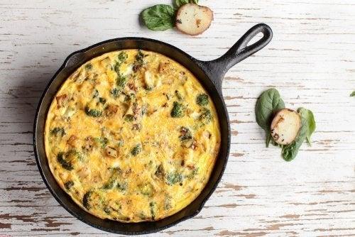 Tortilha de brócolis: receita saudável e fácil