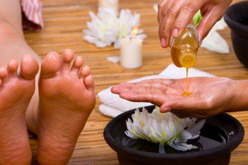 Tratamentos com óleo para os pés