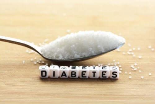 """Colher de açúcar e a palavra """"Diabetes"""""""