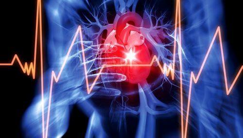 Representação cardíaca com cardiograma