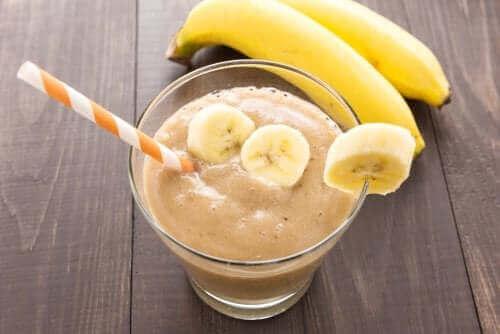 Batido de iogurte e banana