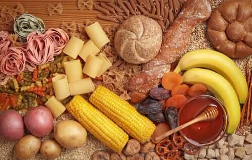 Diferentes tipos de carboidratos