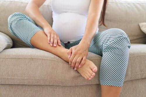 Grávida com dor nas pernas