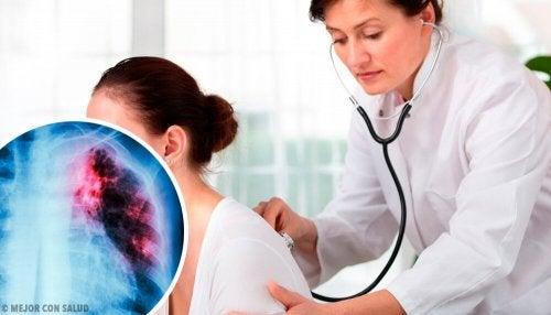 Exame médico para determinar a saúde pulmonar
