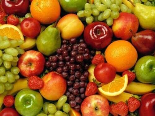 Frutas contêm açúcar