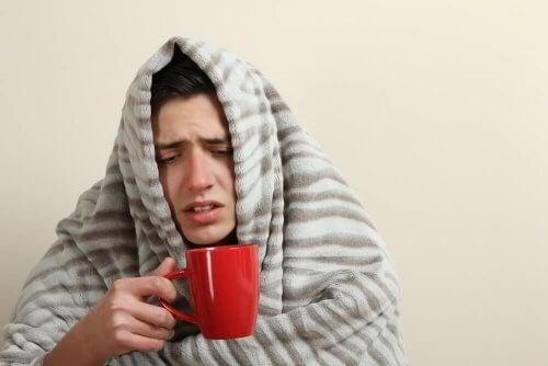 Pessoa com febre alta