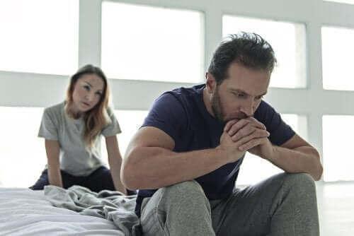 A impotência masculina causa preocupação