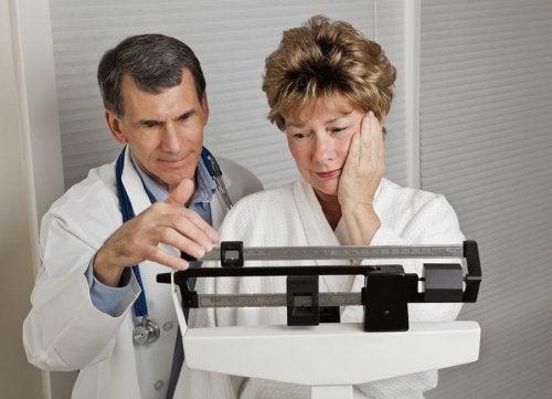 Ganho de peso durante a menopausa