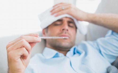 Homem gripado