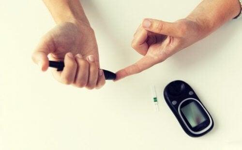 Medir a glicose no sangue