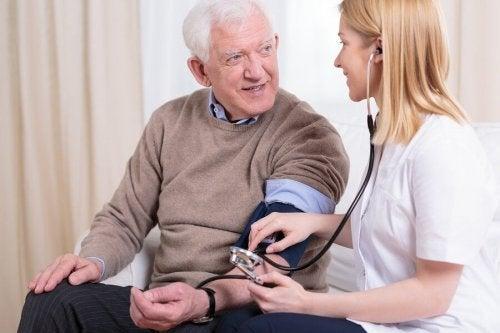 Paciente com hipertensão