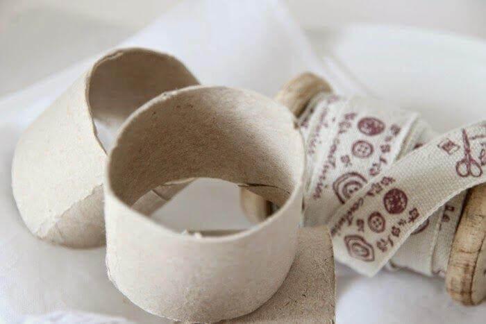 Anéis de guardanapo de papelão