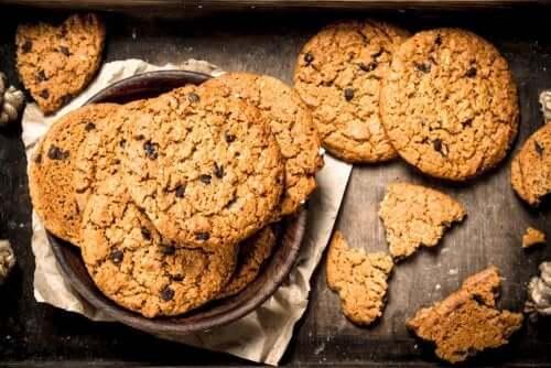 Biscoitos de aveia veganos