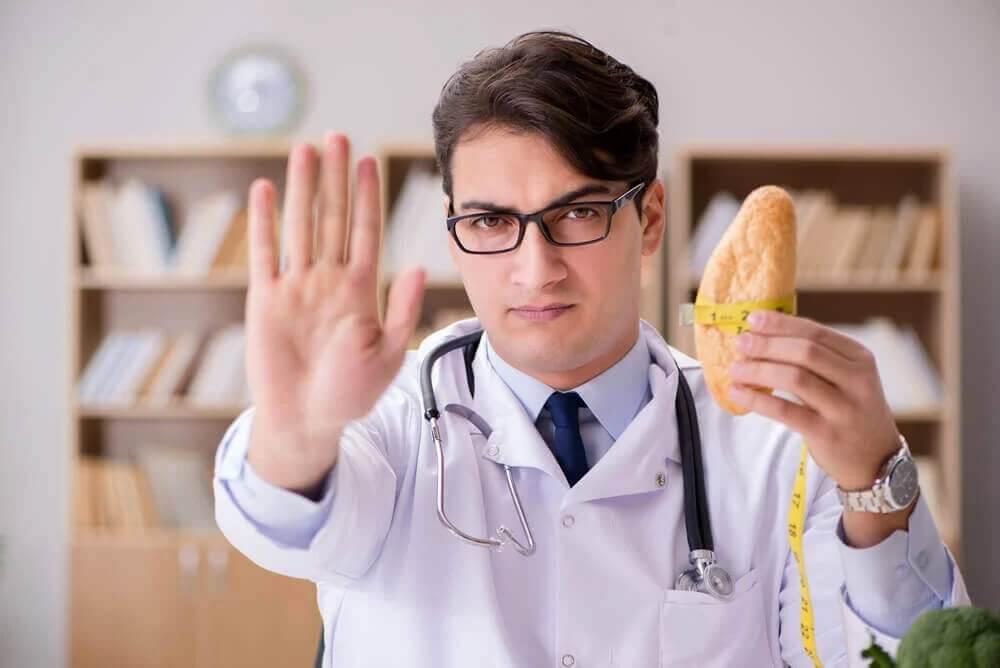 Contraindicação para o pão