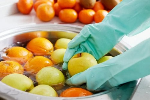 Higienizar frutas