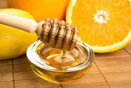 Leite, laranja e mel