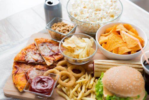 Fast food e alimentos processados