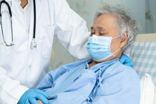 Paciente com complicações do coronavírus