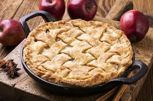 Torta de maçã vegana