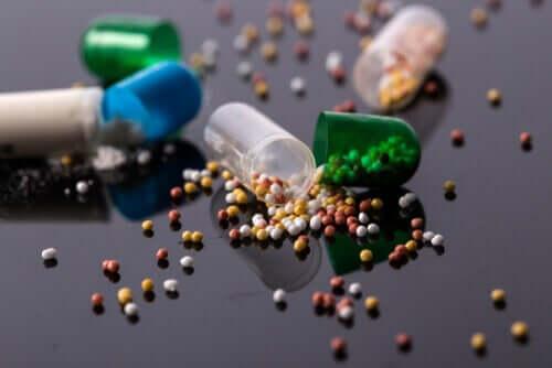 Cápsulas e medicamentos