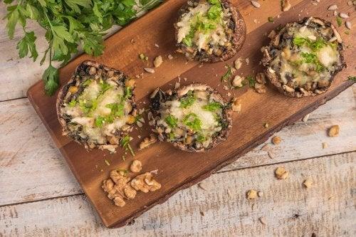 Como fazer cogumelos recheados veganos