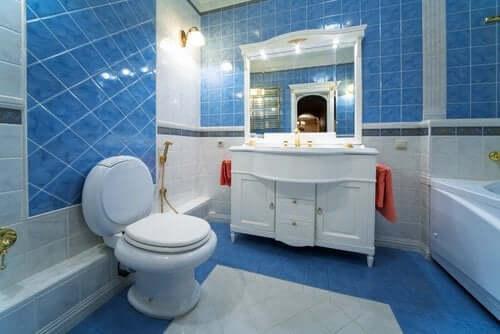 A decoração do banheiro