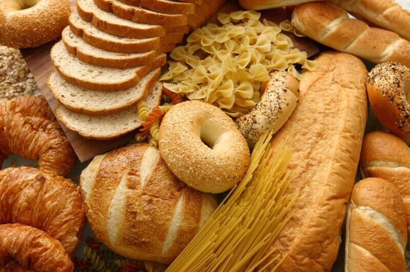 Alimentos à base de farinhas refinadas