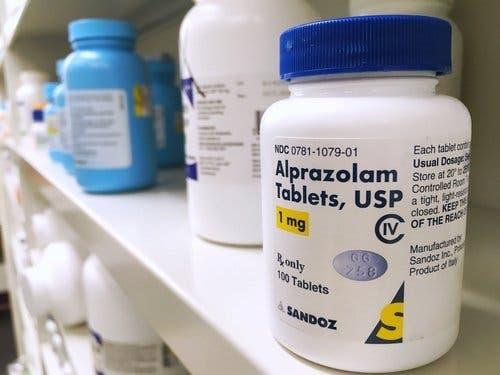 Frasco de alprazolam
