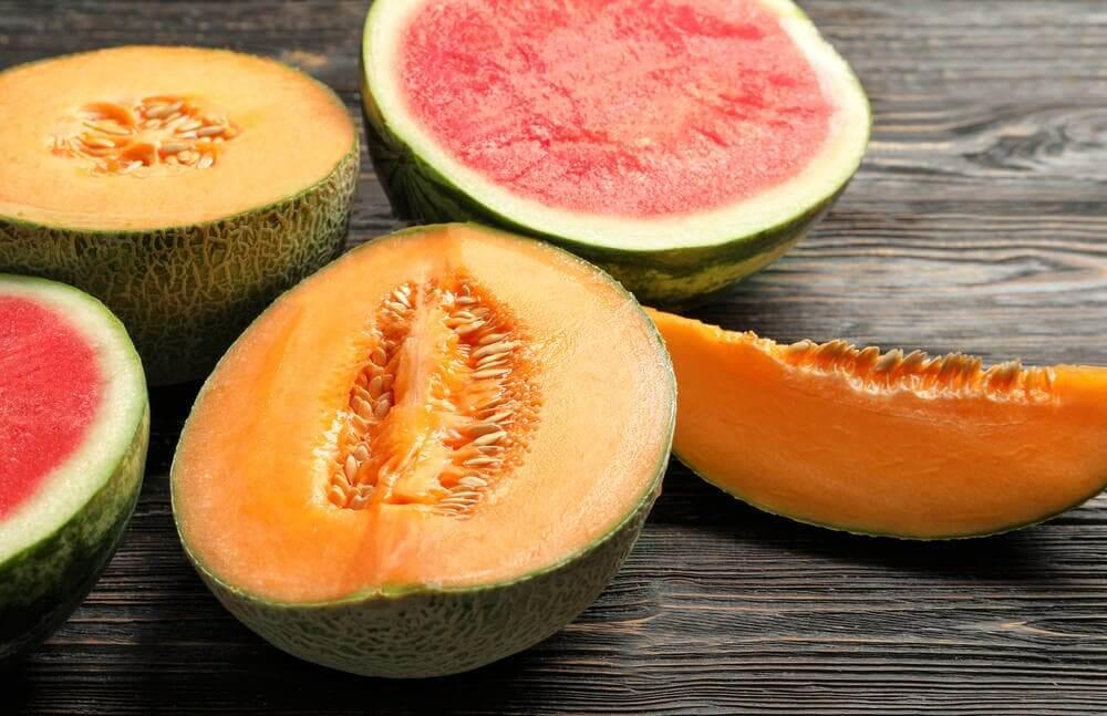 Melão e melancia