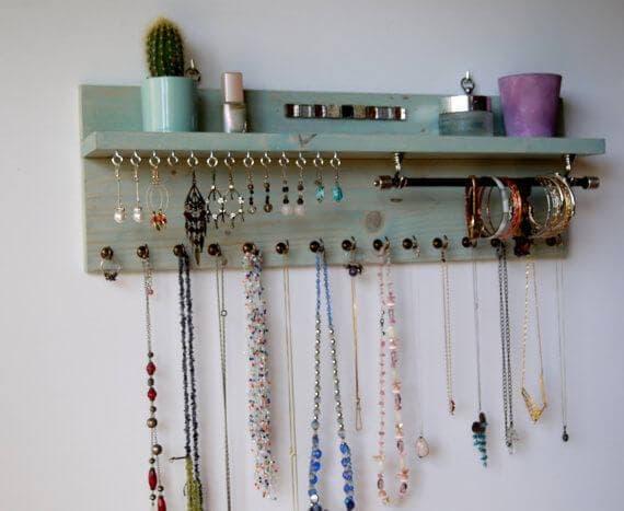 Organizador de parede para bijuterias
