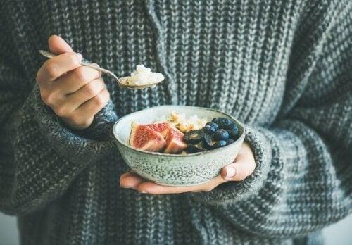 Salada de arroz com figo