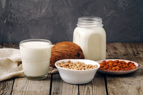 Comparação de leites vegetais