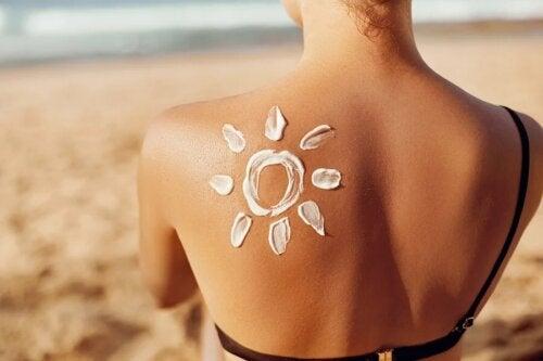 Protetor solar na praia