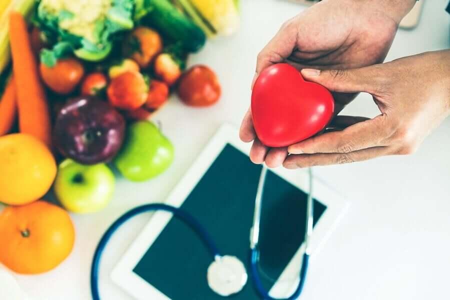 A alimentação saudável ajuda a saúde do coração