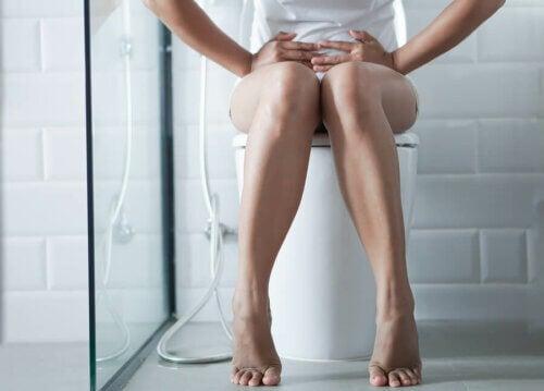 Mulher com diarreia