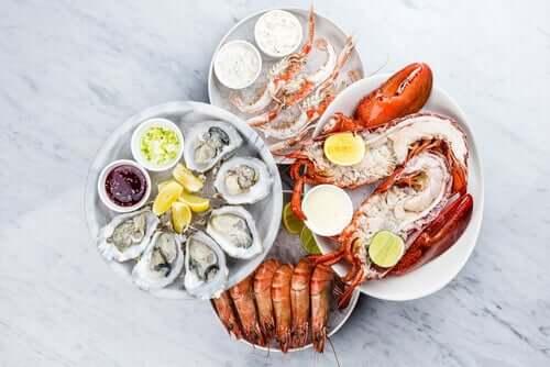 O colesterol dos frutos do mar