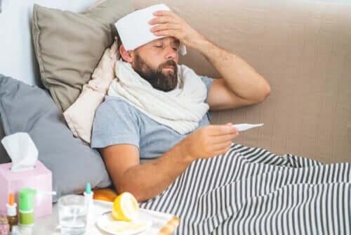 Por que a temperatura corporal aumenta durante a febre?