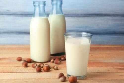Propriedades do leite de avelã