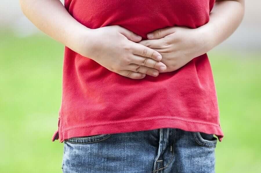 Dor de estômago em crianças