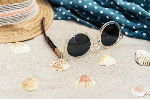 Óculos de sol no verão
