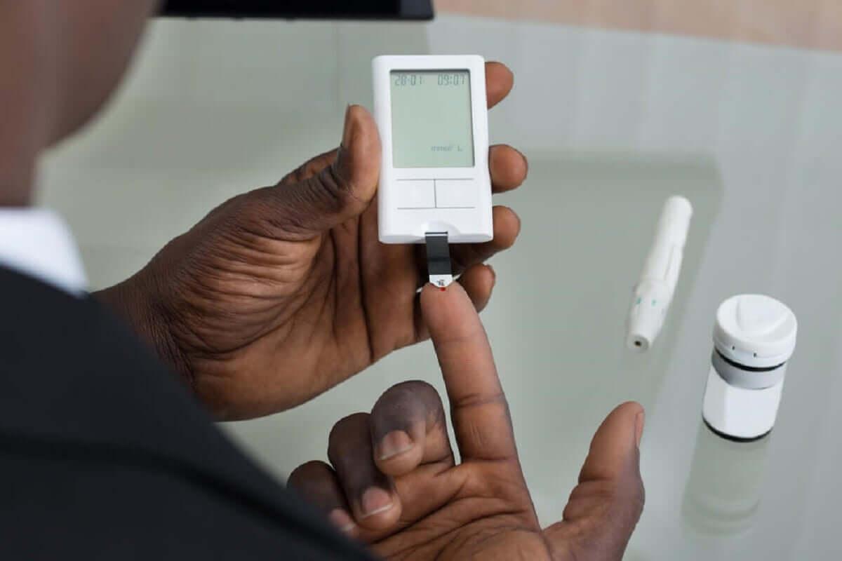 Paciente com diabetes