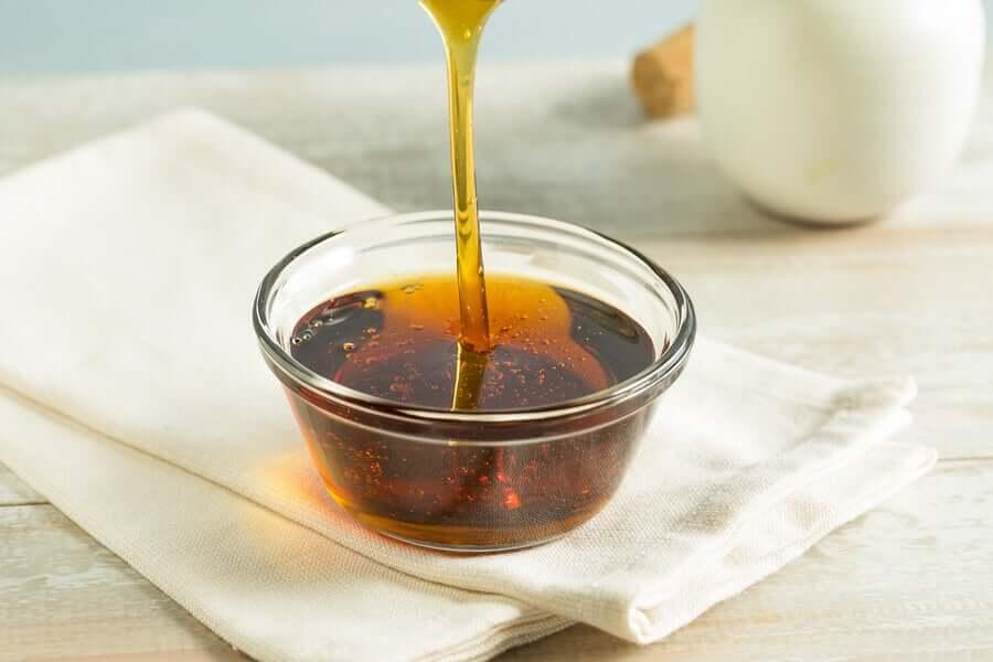 Recipiente com mel