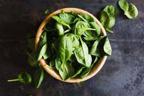 Espinafre e vitamina B9