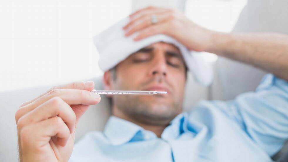 Homem com febre