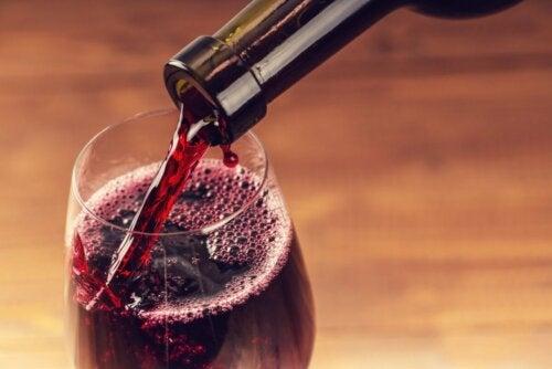Taça de vinho tinto