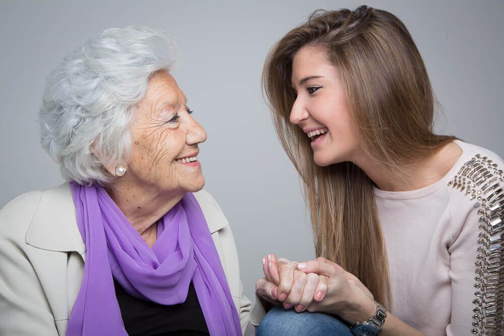 Neta com a avó