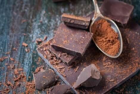 Chocolate combinado com especiarias