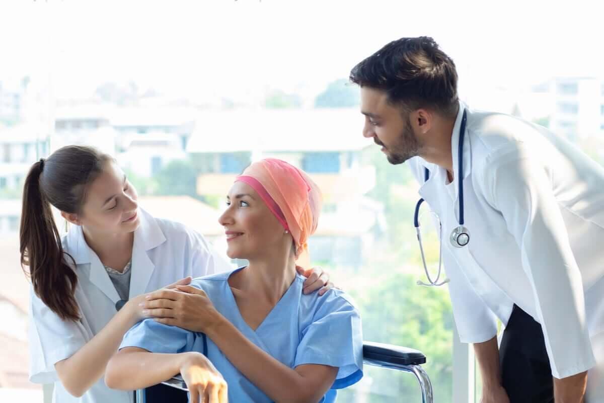 Paciente fazendo quimioterapia