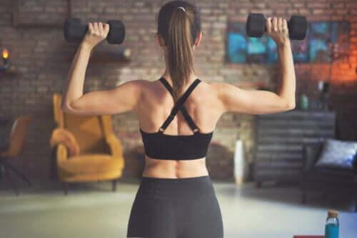 Exercícios para trabalhar as costas com halteres ou pesos