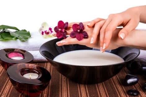 Tratamentos naturais para as mãos